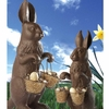 Large Chocolate Bunny with Eggs