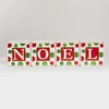 Large White Noel Polka Dot Blocks