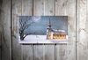 Lighted Canvas Wall Art Church in Snow