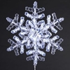 Lighted Clear 12 Inch Snowflake Decoration