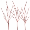 Lighted Glittered Red Willow Branches 39 inches tall, electric