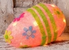 Lighted Pink Easter Egg Decoration 11.5 Inches