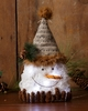 Lighted Snowman Head with Twinkle Lights Large