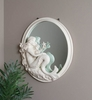 Mermaid with Starfish Round Mirror