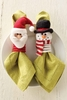 Mudpie Napkin Rings Santa and Snowman
