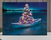 Radiance Lighted Canvas Christmas Tree in Row Boat