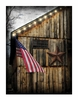 Radiance Light American Canvas Barn Flag and Rusty Star