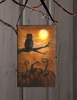 Radiance Lighted Canvas Be Wise Halloween Owl Ornament