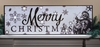 Radiance Lighted Canvas Beaded Merry Christmas Santa in Black and White Print