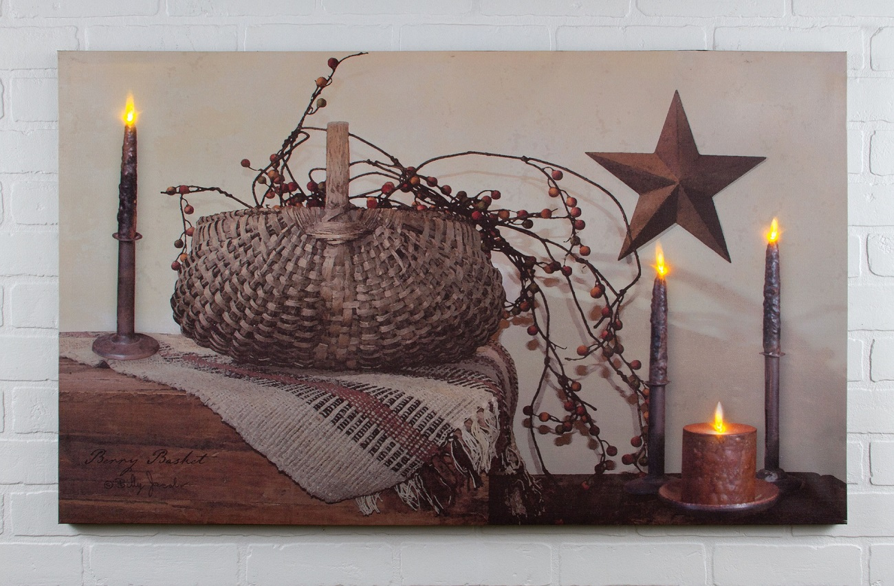ohio wholesale billy jacobs berry basket led lighted art print 72090