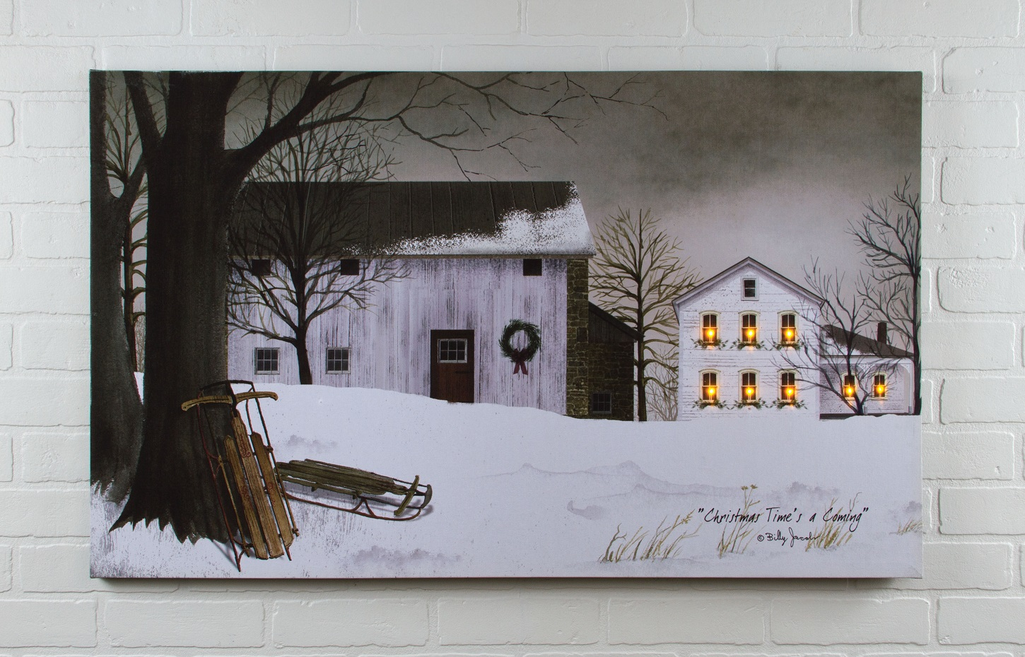 billy jacobs christmas time farm radiance lighted canvas by ohio