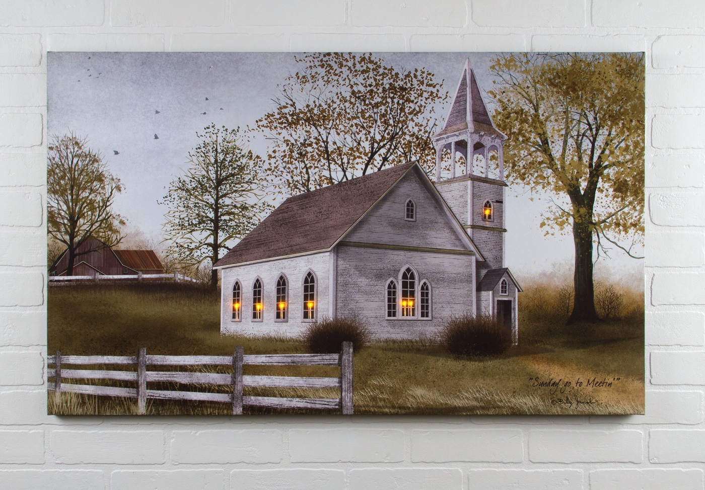 radiance lighted canvas billy jacobs sunday go to meeting church large