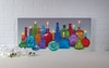 Radiance Lighted Canvas Bo Ho Chic Bottles and Candles