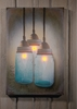 Radiance Lighted Canvas Canning Jar Chandelier