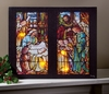 Radiance Lighted Canvas Christ is Born Stained Glass