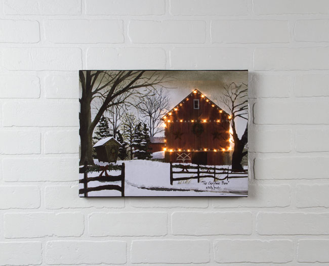 Radiance Lighted Canvas by Ohio Wholesale Billy Jacobs Christmas Barn