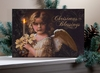 Radiance Lighted Canvas Christmas Blessing Angel