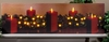 Radiance Lighted Canvas Christmas Classic Red Candles and Evergreen