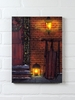 Radiance Lighted Canvas Christmas Door with Sled