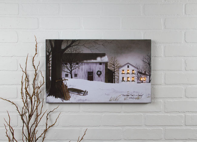 Radiance Lighted Canvas by Ohio Wholesale Glistening Pine Tree through a window pane