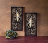 Radiance Lighted Canvas Contemporary Wall Candle Sconce Set