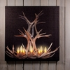 Radiance Lighted Canvas Deer Antler Chandelier