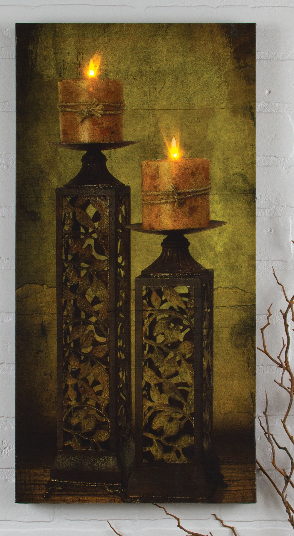 Radiance Lighted Canvas by Ohio Wholesale Filigree Candle