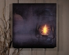 Radiance Lighted Canvas Halloween Spooky Smokey Lantern