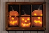 Radiance Lighted Canvas Halloween Window with Jack O Lantern Pumpkins