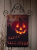 Radiance Lighted Canvas Happy Halloween Door Hanging