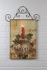Radiance Lighted Canvas Happy Holidays Christmas Door Art