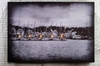 Radiance Lighted Canvas Harbor Scene Small