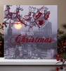 Radiance Lighted Canvas Here Comes Santa