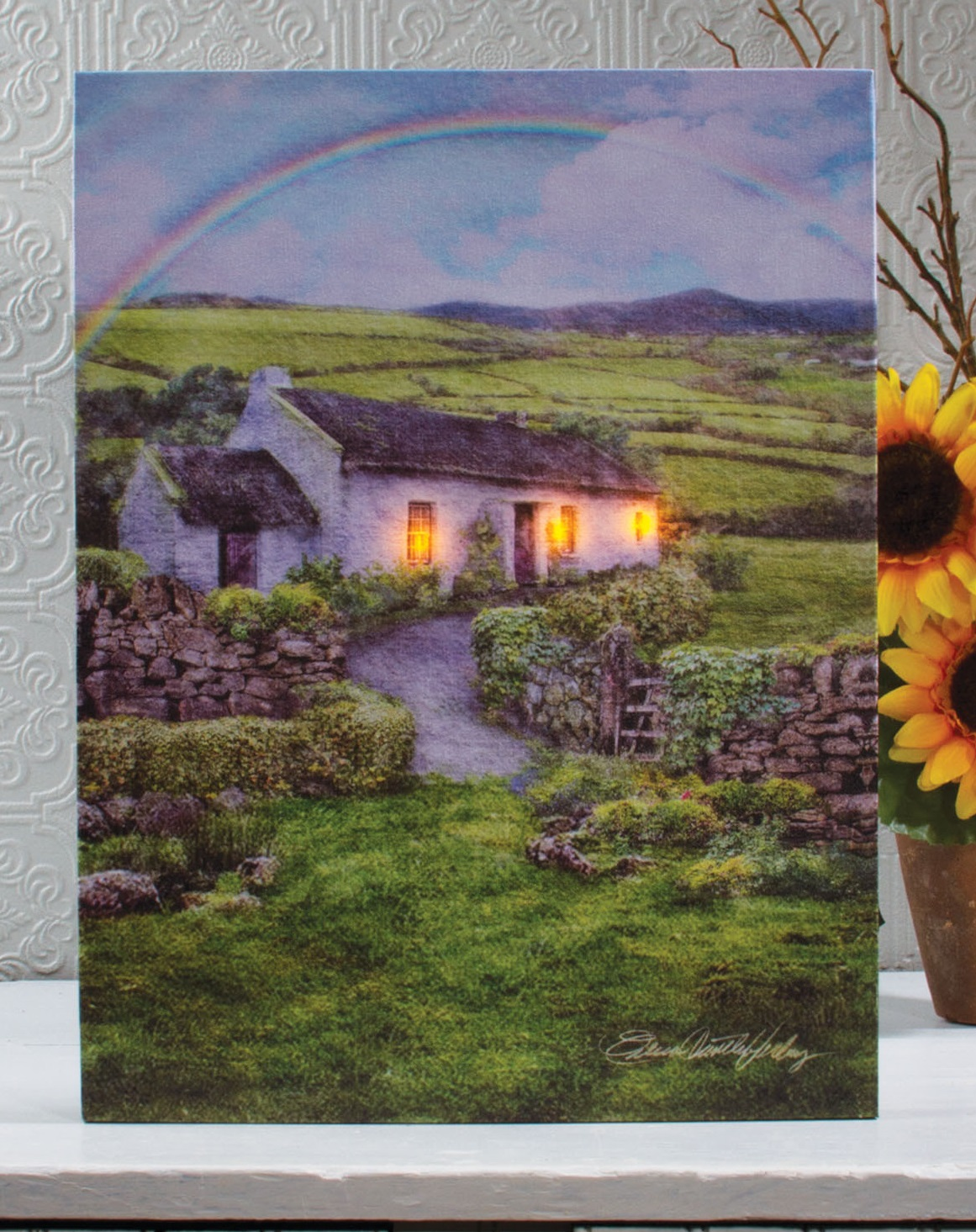 Radiance Lighted Canvas Irish Cottage 39943