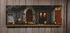 Radiance Lighted Canvas Large Halloween Front Door with Jack O Lantern