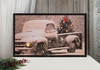 Radiance Lighted Canvas Large Old Truck and Christmas Tree