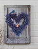 Radiance Lighted Canvas Lavender Wreath
