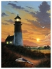 Radiance Lighted Canvas Lighthouse