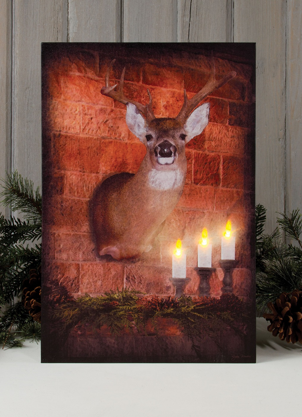 Radiance Lighted Canvas by Ohio Wholesale Mounted Deer