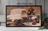 Radiance Lighted Canvas Old Truck Merry Christmas with timer