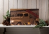 Radiance Lighted Canvas Old Truck with Canoe Gone Fishing