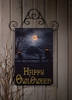 Radiance Lighted Canvas Owloween Halloween Door Hanging