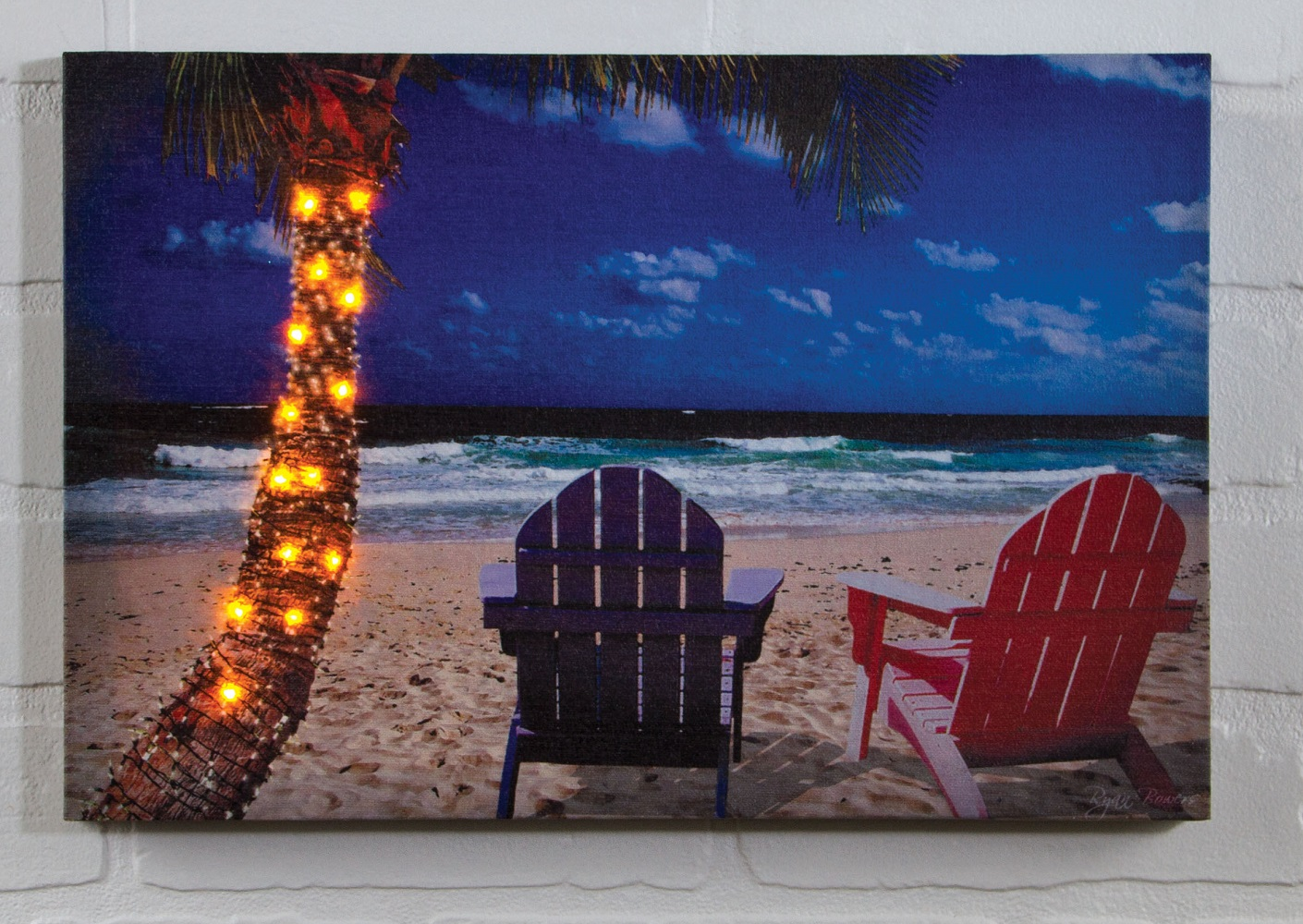 Radiance Lighted Canvas by Ohio Wholesale beach chairs and lighted palm tree