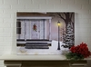 Radiance Lighted Canvas Peace on Earth White Farm House Large 24x32