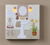 Radiance Lighted Canvas Pedestal Powder Room Sink