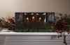 Radiance Lighted Canvas Pine Window Box and Candles