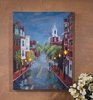 Radiance Lighted Canvas Raining in the Village