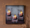 Radiance Lighted Canvas Recycled Glass Candle Holders