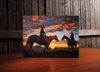 Radiance Lighted Canvas Riding into the Sunset Cowboy Canvas