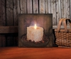 Radiance Lighted Canvas Rosehips and Prim Candle